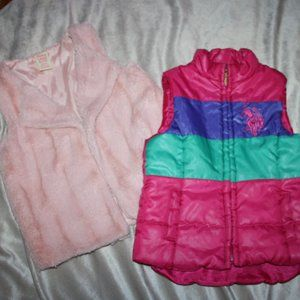 Pink Vest Bundle Polo girls size 5